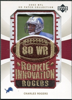 2003 Upper Deck UD Patch Collection Gold Patches #135 Charles Rogers RC /25
