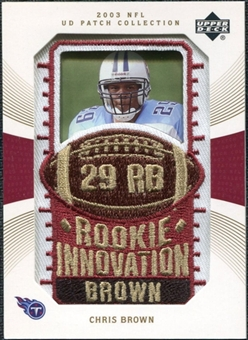 2003 Upper Deck UD Patch Collection Gold Patches #140 Chris Brown RC /25