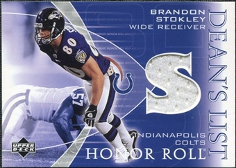 2003 Upper Deck Honor Roll Dean's List Jersey #DLBS Brandon Stokley