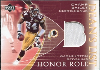 2003 Upper Deck Honor Roll Dean's List Jersey #DLCB Champ Bailey SP
