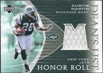 2003 Upper Deck Honor Roll Dean's List Jersey #DLCU Curtis Martin