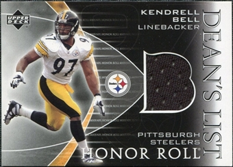 2003 Upper Deck Honor Roll Dean's List Jersey #DLKB Kendrell Bel
