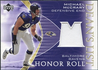 2003 Upper Deck Honor Roll Dean's List Jersey #DLMM Michael McCrary
