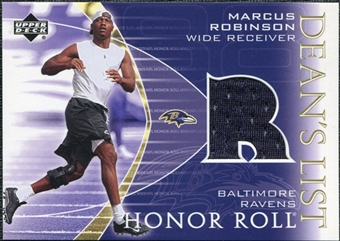 2003 Upper Deck Honor Roll Dean's List Jersey #DLMR Marcus Robinson