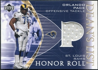 2003 Upper Deck Honor Roll Dean's List Jersey #DLOP Orlando Pace