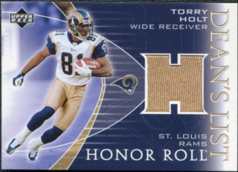 2003 Upper Deck Honor Roll Dean's List Jersey #DLTH Torry Holt