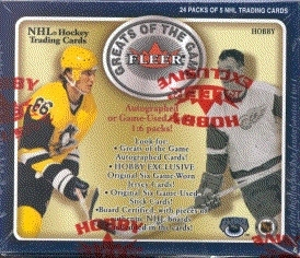 2001/02 Fleer Greats Of The Game Hockey Hobby Box