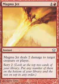 Magic the Gathering Fifth Dawn Single Magma Jet - NEAR MINT (NM)