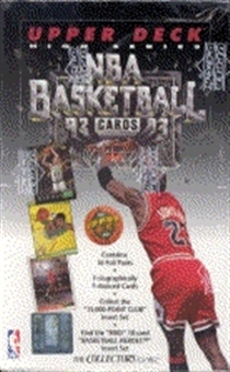 1992/93 Upper Deck Hi # Basketball Hobby Box