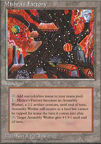Magic the Gathering 4th Edition Single Mishra's Factory - MODERATE PLAY (MP)