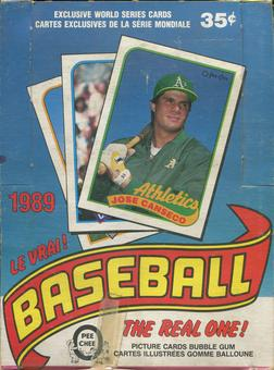 1989 O-Pee-Chee Baseball Wax Box