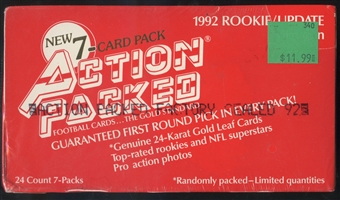 1992 Action Packed Rookie Update Football Box