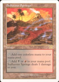 Magic the Gathering 6th Edition Single Sulfurous Springs LIGHT PLAY (NM)