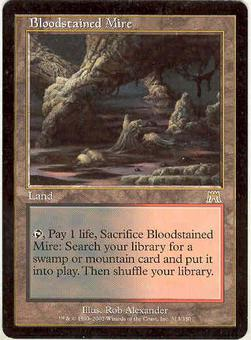 Magic the Gathering Onslaught Single Bloodstained Mire LIGHT PLAY (NM)