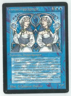 Magic the Gathering Beta Single Vesuvan Doppelganger - MODERATE PLAY (MP)