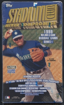 1999 Topps Stadium Club Series 1 Baseball 24 Pack Box