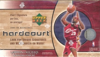 2005/06 Upper Deck Hardcourt Basketball Hobby Box