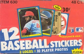 1983 Fleer Stickers Baseball Wax Box