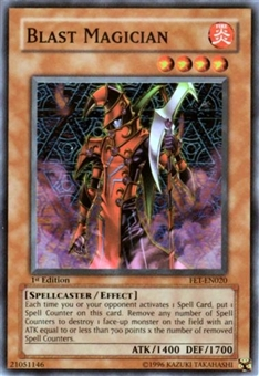 Yu-Gi-Oh Flaming Eternity Single Blast Magician Super Rare (FET-020)