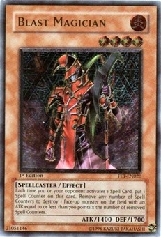 Yu-Gi-Oh Flaming Eternity Single Blast Magician Ultimate Rare (FET-020)