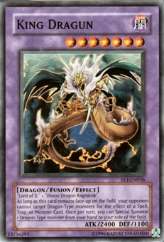 Yu-Gi-Oh Flaming Eternity Single King Dragun Super Rare (FET-036)