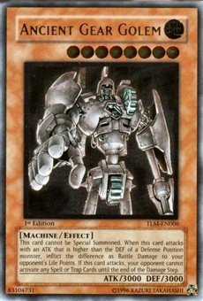 Yu-Gi-Oh The Lost Millennium 1st Ed. Single Ancient Gear Golem Ultimate Rare (TLM-006)