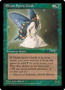 Magic the Gathering Alliances Single Elvish Spirit Guide - SLIGHT PLAY (SP)