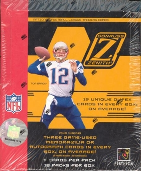 2005 Donruss Zenith Football Hobby Box