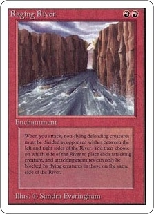 Magic the Gathering Unlimited Single Raging River - MODERATE PLAY (MP)