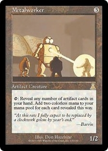Magic the Gathering Urza's Destiny Single Metalworker FOIL - SLIGHT PLAY (SP)