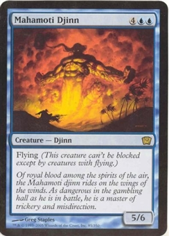 Magic the Gathering 9th Ed. 4x6 Single Mahamoti Djinn