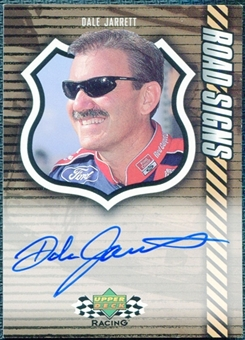 2000 Upper Deck Racing Road Signs #RSDJ Dale Jarrett Autograph