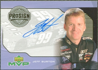 2000 Upper Deck MVP ProSign #PSJB Jeff Burton