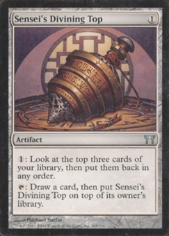 Magic the Gathering Champs of Kamigawa Single Sensei's Divining Top - MODERATE PLAY (MP)