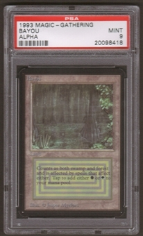 Magic the Gathering Alpha Single Bayou PSA 9