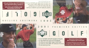 2001 Upper Deck Golf Rack Box
