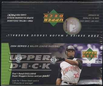 2004 Upper Deck Series 2 Baseball 24 Pack Box