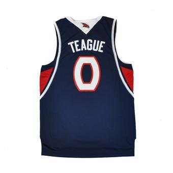 Atlanta Hawks Jeff Teague Adidas Navy Swingman #0 Jersey (Adult L)