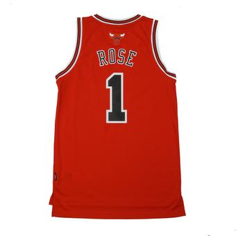 Chicago Bulls Derrick Rose Adidas Red Swingman #1 Jersey