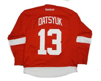 Detroit Red Wings #13 Pavel Datsyuk Red Premier Jersey (Reebok) (Adult S)