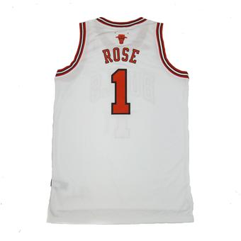 Chicago Bulls Derrick Rose Adidas White Swingman #1 Jersey (Adult XXL)