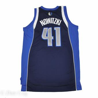 Dallas Mavericks Dirk Nowitzki Adidas Navy Alternate Swingman #41 Jersey (Adult XXL)