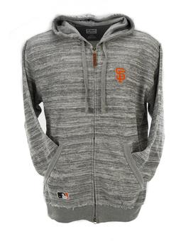 San Francisco Giants Majestic Heather Gray Clubhouse Full Zip Fleece Hoodie (Adult L)