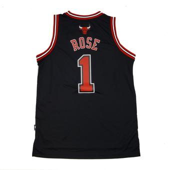Chicago Bulls Derrick Rose Adidas Black Swingman #1 Jersey