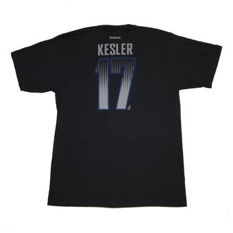Vancouver Canucks #17 Ryan Kessler Reebok Black Name & Number Tee Shirt (Adult M)