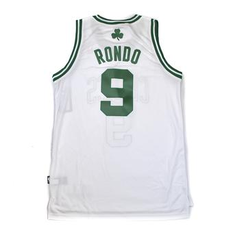 Boston Celtics Rajon Rondo Adidas White Swingman #9 Jersey