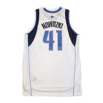 Dallas Mavericks Dirk Nowitzki Adidas White Swingman #41 Jersey (Adult XXL)