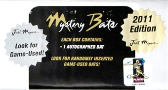 2011 Just Minors Mystery Bats - Game Used Edition Baseball Hobby 6-Box Case