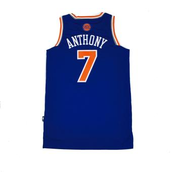 New York Knicks Carmelo Anthony Adidas Blue Swingman #7 Jersey