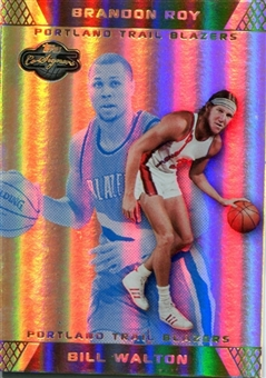 2007/08 Topps Co-Signers Gold Blue Foil #47A Bill Walton Brandon Roy Rookie 5/5